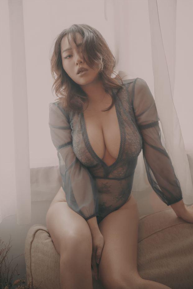 lingerie fashion artwork by model julie