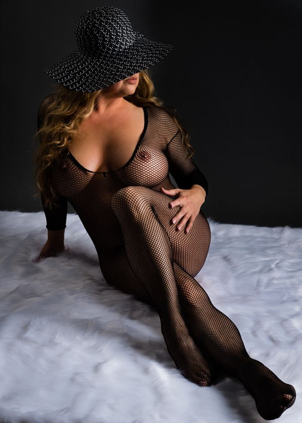 lingerie glamour photo by model angela mathis