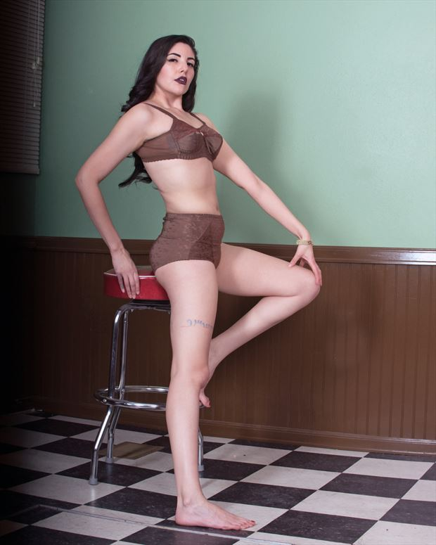 lingerie pinup photo by photographer bearcreekphoto