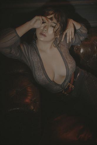 lingerie studio lighting artwork by model julie