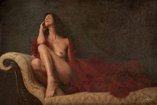 lingerie vintage style photo by model helen troy