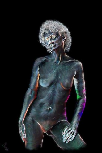lit up like a christmas tree artistic nude artwork by photographer photorunner