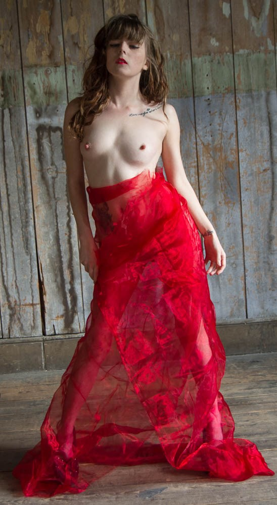 little miss red  Artistic Nude Photo by Model TheaRosee