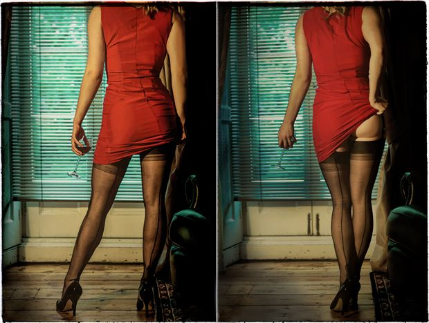 little red dress erotic photo by photographer colin dixon