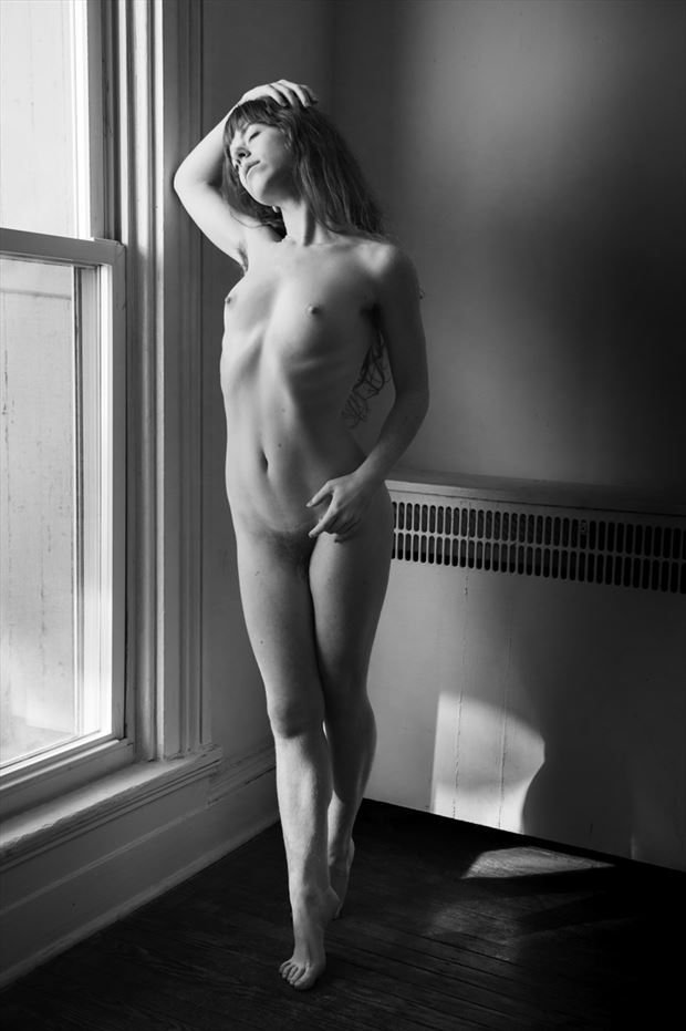 liv by the window artistic nude photo by photographer gregory holden