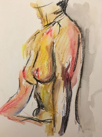 live life drawing figure study artistic nude artwork by artist kevin houchin