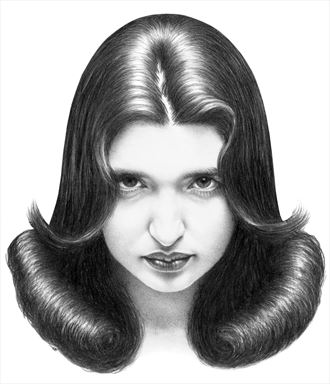 liz portrait artwork by artist subhankar biswas