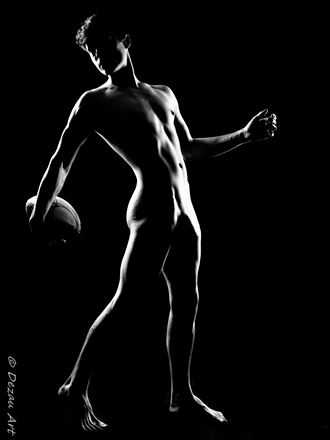 looking back   the silhouette of a rugby player Artistic Nude Photo by Photographer DEZAU