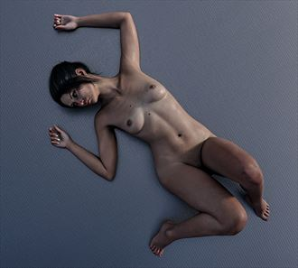 lost in thought artistic nude artwork by artist tantographics