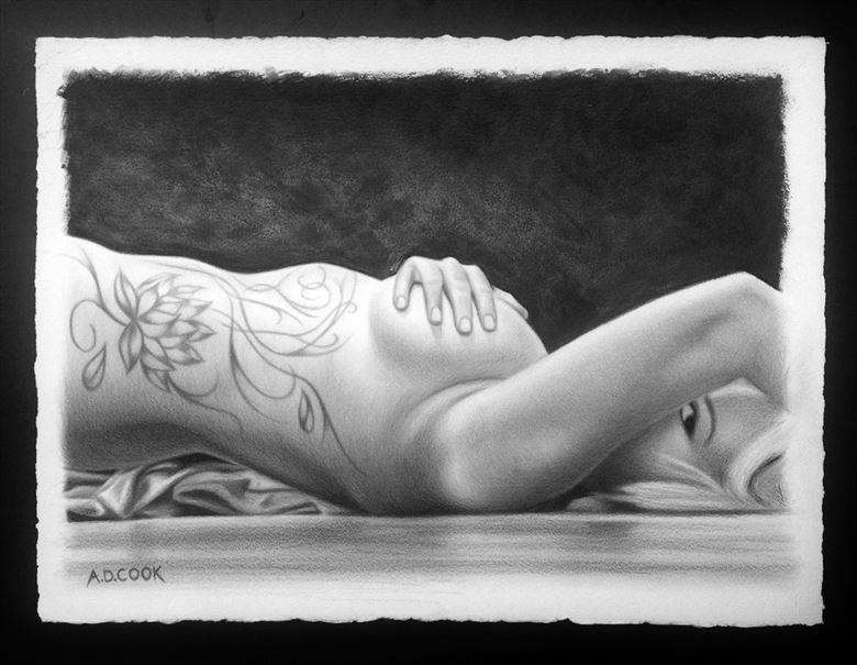 lotus chiaroscuro artwork by artist a d cook