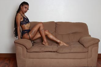lounging around lingerie photo by model thenudealien