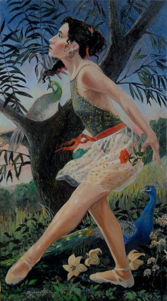 love is an untamed bird figure study artwork by artist richard_shook