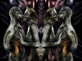 lovers 002 Erotic Artwork by Artist paul bellaby