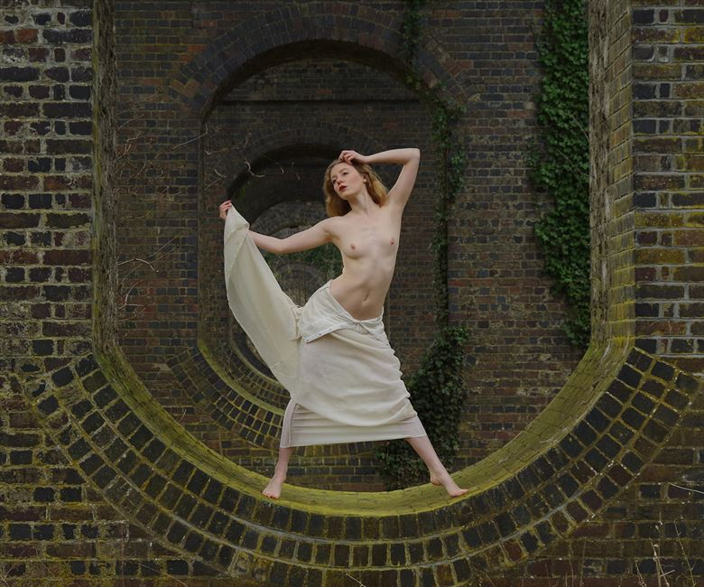 lulu and the receding arches artistic nude photo by photographer john burrows