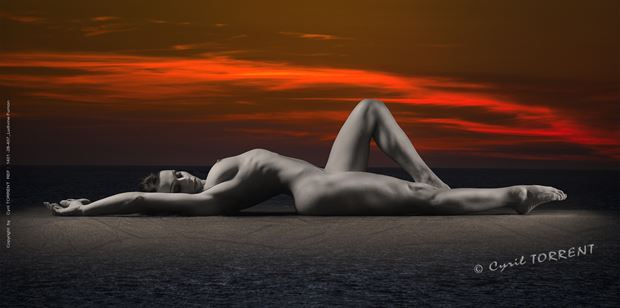 lulu artistic nude artwork by photographer cyril torrent