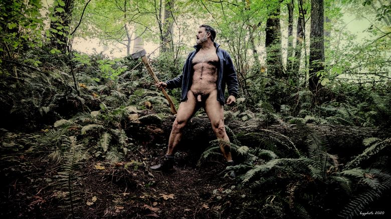 lumberjack 2 artistic nude photo by photographer barry gallegos
