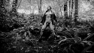 lumberjack bw 1 artistic nude photo by photographer barry gallegos