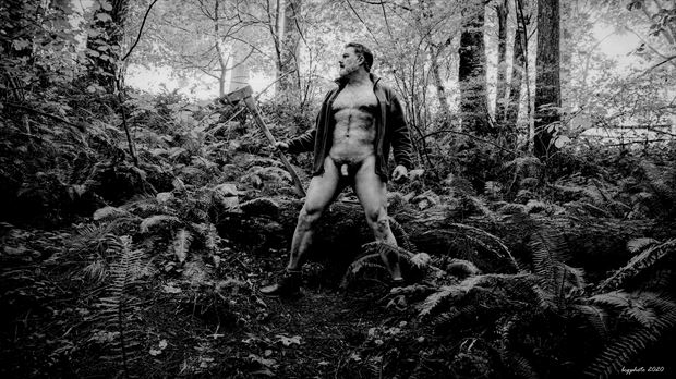 lumberjack bw 2 artistic nude photo by photographer barry gallegos