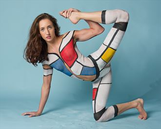 m ondrian inspired bodypaint abstract photo by photographer pabyar