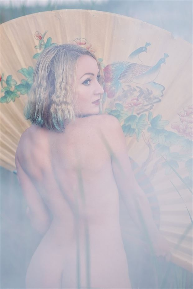 maid in the mist artistic nude photo by model cali laine