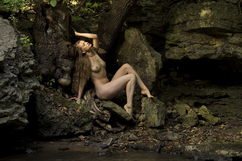 maiden in the forest artistic nude photo by model julina