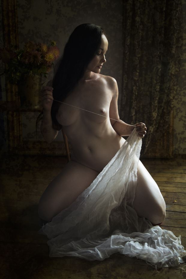 maiden sewing artistic nude photo by photographer christopher meredith