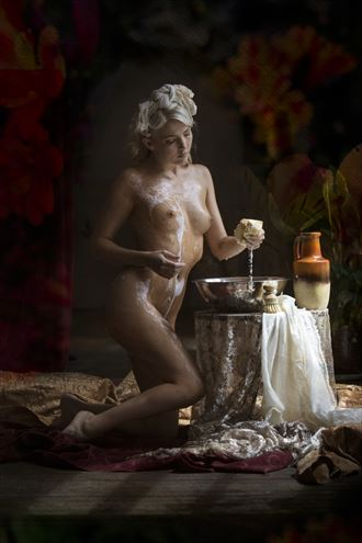 maiden washing 1 artistic nude photo by photographer christopher meredith