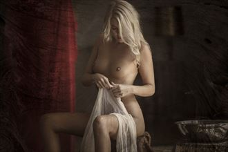 maiden with cloth artistic nude photo by photographer christopher meredith