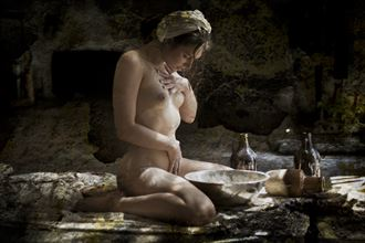 maiden with flour artistic nude photo by photographer christopher meredith