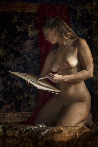 maiden with painting artistic nude photo by photographer christopher meredith