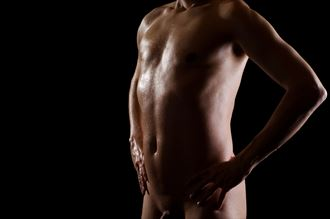 male torso studio lighting photo by photographer uhphoto
