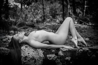 mallory recline on rock artistic nude photo by photographer dpdodson