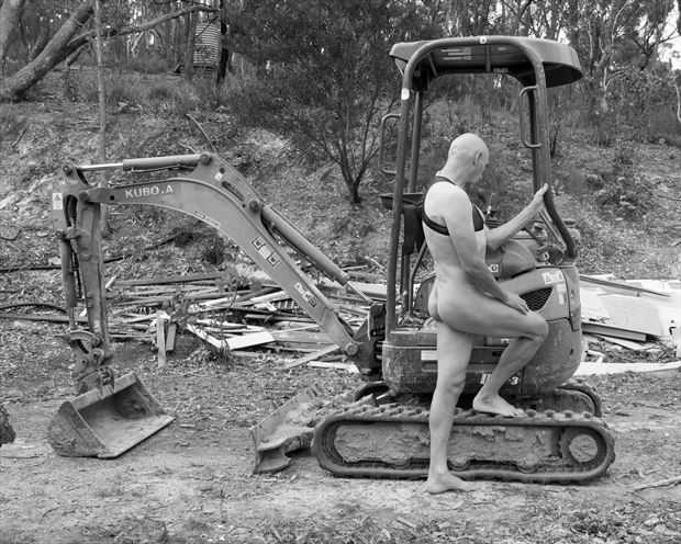 man and machine artistic nude photo by model artmodel richard
