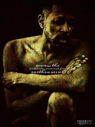 man earthen vessel artistic nude photo by artist z hr
