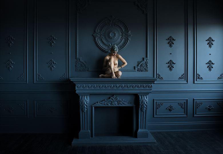 mantel artistic nude photo by photographer ellis