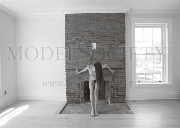 mantel cross artistic nude photo by photographer michael grace martin