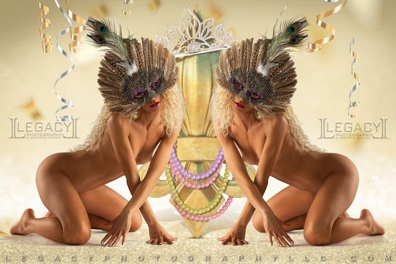 mardi gras fat tuesday 2021 artistic nude photo by photographer legacyphotographyllc