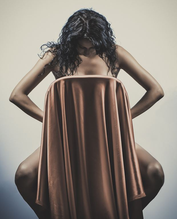marie a chair and a drape artistic nude photo by photographer dlevans