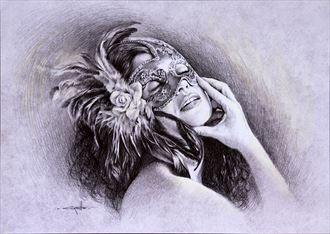 mascherina sensual artwork by artist girotto walter
