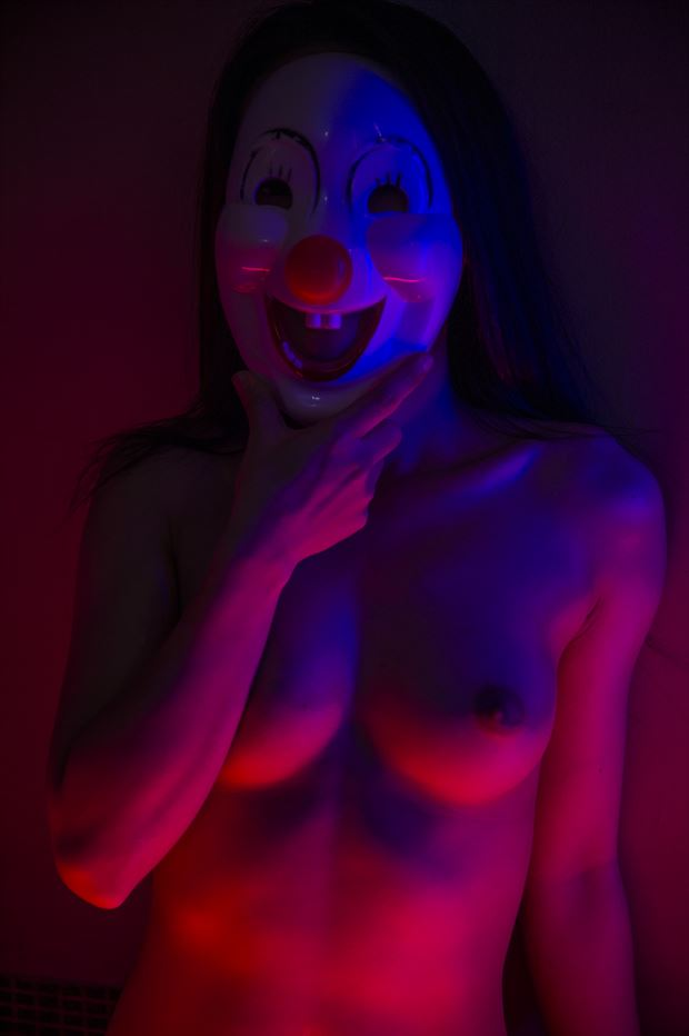 masked 001 artistic nude photo by photographer peter lik
