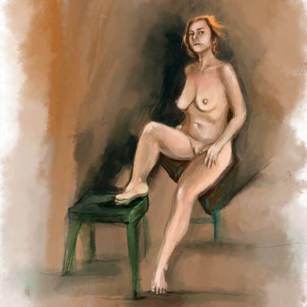 maude in paris artistic nude artwork by artist nick kozis