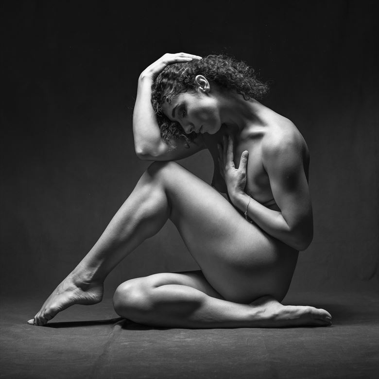 meditation artistic nude photo by photographer niall
