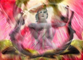 meditation in the garden of hope artistic nude artwork by artist derbuettner