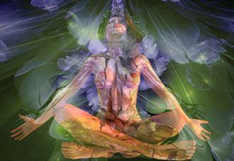 meditationsupport artistic nude artwork by artist derbuettner