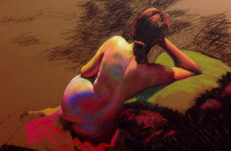 megan Artistic Nude Artwork by Artist Rod