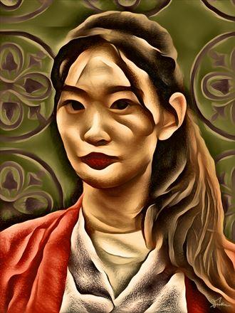 mei xing surreal artwork by artist van evan fuller