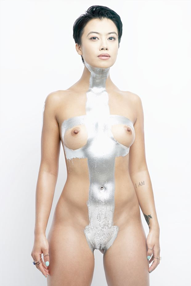 metallic artistic nude photo by photographer stromephoto