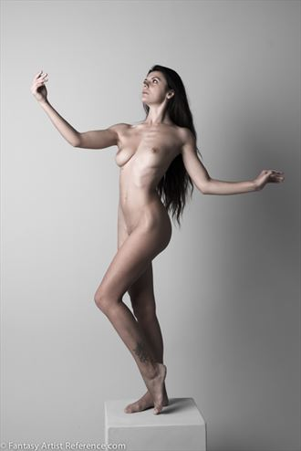 miky standing figure study artistic nude photo by photographer xenophoto
