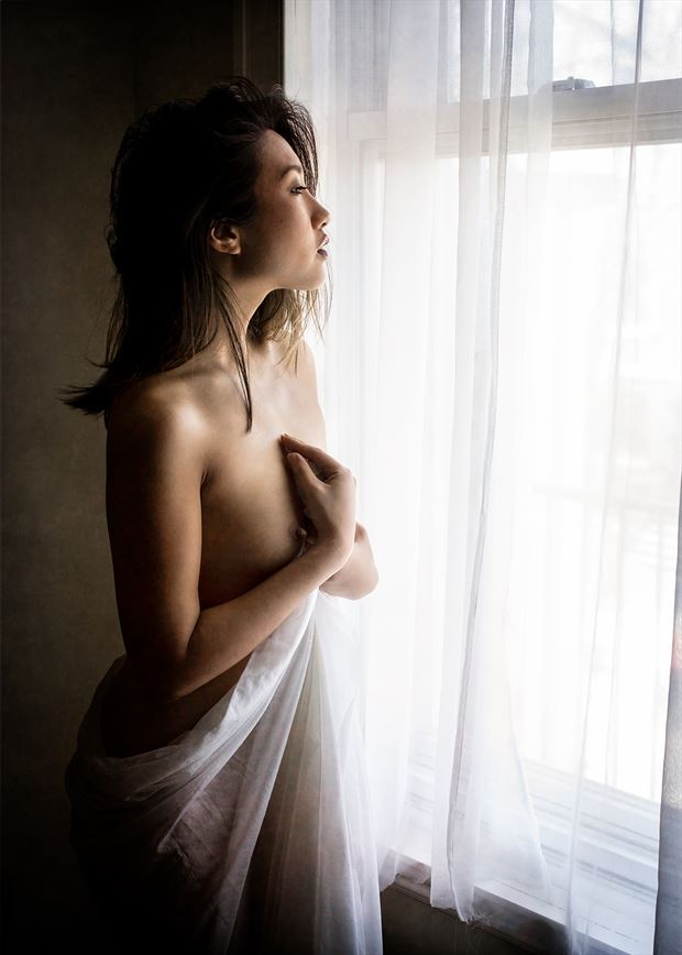 minh ly in window artistic nude photo by photographer fischer fine art