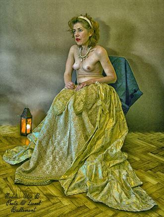 model alexandra artistic nude photo by artist lionel baillemont